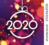 happy new year 2020 card with... | Shutterstock .eps vector #1532463530
