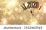gold shiny bokeh new year 2020... | Shutterstock .eps vector #1532463563