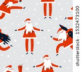 christmas seamless pattern with ... | Shutterstock .eps vector #1532473100