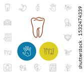 anatomic icons set with...