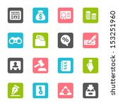 business   finance web icons   Shutterstock .eps vector #153251960