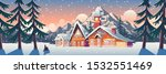 winter mountain landscape with... | Shutterstock .eps vector #1532551469