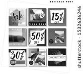 set of black white banners with ...   Shutterstock .eps vector #1532636246