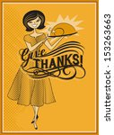 give thanks   retro style... | Shutterstock .eps vector #153263663