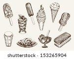 ice cream. set of vector... | Shutterstock .eps vector #153265904
