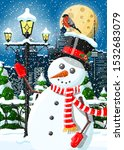 Christmas Winter Cityscape ...