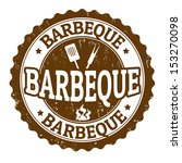 barbeque vintage sign on white... | Shutterstock .eps vector #153270098