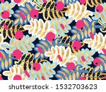 seamless pattern abstract rowan ... | Shutterstock .eps vector #1532703623