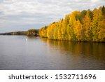 Beautiful River Bend Between...