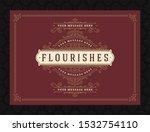 vintage ornament greeting card... | Shutterstock .eps vector #1532754110