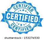 certified grunge blue stamp.... | Shutterstock . vector #153276530