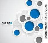 geometric circles design... | Shutterstock .eps vector #153277028