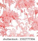 seamless pattern pink vintage... | Shutterstock .eps vector #1532777306