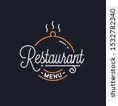restaurant menu logo. round...   Shutterstock .eps vector #1532782340