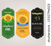 sunflowers and olive oils... | Shutterstock . vector #1532796023
