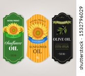 sunflowers and olive oils... | Shutterstock .eps vector #1532796029