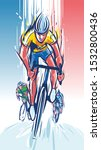 illustration of  cyclist wins... | Shutterstock .eps vector #1532800436