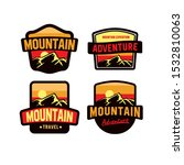 amazing mountain vector badge... | Shutterstock .eps vector #1532810063