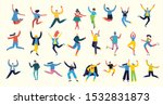 concept of young people jumping ... | Shutterstock .eps vector #1532831873