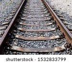 Empty Railroad Tracks Go Into...