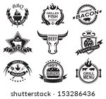 set of elements for a... | Shutterstock .eps vector #153286436