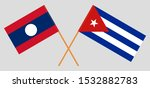 laos and cuba. laotian and... | Shutterstock .eps vector #1532882783