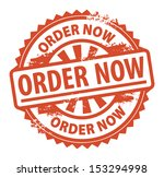 Abstract grunge rubber stamp with the text Order Now written inside the stamp, vector illustration