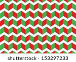 red and green zigzag pattern | Shutterstock . vector #153297233