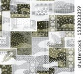 Seamless Camouflage Patchwork...