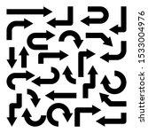 black arrows set on white... | Shutterstock .eps vector #1533004976
