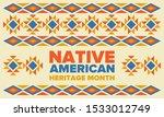 native american heritage month...   Shutterstock .eps vector #1533012749