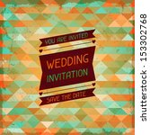 wedding invitation card in... | Shutterstock .eps vector #153302768