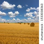 Yellow Golden Straw Bales Of...