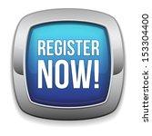 blue rounded register now button   Shutterstock .eps vector #153304400