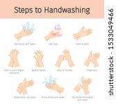 steps to hand washing for... | Shutterstock .eps vector #1533049466