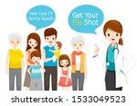 female doctor holding... | Shutterstock .eps vector #1533049523