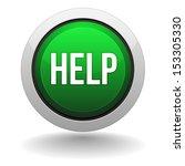 green round help button   Shutterstock .eps vector #153305330