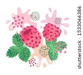 raspberry juice vector... | Shutterstock .eps vector #1533066386