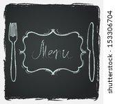 restaurant menu design.... | Shutterstock .eps vector #153306704