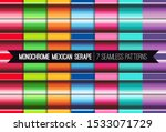 pack of 7 mexican serape...   Shutterstock .eps vector #1533071729
