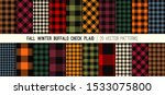 fall colors buffalo check plaid ... | Shutterstock .eps vector #1533075800