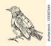 metal bird. | Shutterstock .eps vector #153307664