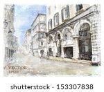 illustration of city street.... | Shutterstock .eps vector #153307838
