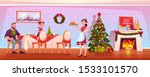 family christmas dinner  happy... | Shutterstock .eps vector #1533101570