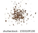 grated chocolate. heap of... | Shutterstock . vector #1533109130