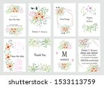 big set of vector cards with... | Shutterstock .eps vector #1533113759