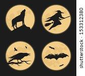 Halloween Characters Moonlight...
