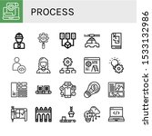process icon set. collection of ... | Shutterstock .eps vector #1533132986