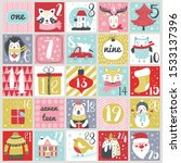 christmas advent calendar with...   Shutterstock .eps vector #1533137396