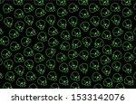 toxic pattern with skulls.... | Shutterstock .eps vector #1533142076